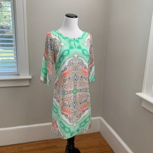 Banana Republic Multi-Color Shift Dress, Size 2P